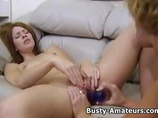 Busty Kira And Holly Playing Their Pussy