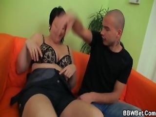 Busty Slut Rides Dick