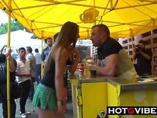Big Cock Emilio Fucks Amirah In Public