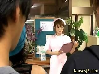 Japanese Nurse Collecting Sperm