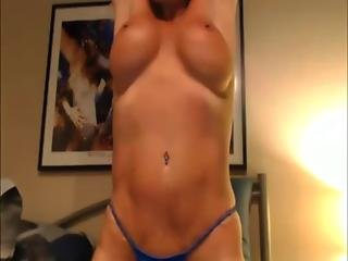 Busty Blonde Cougar Pounds Her Old Holes