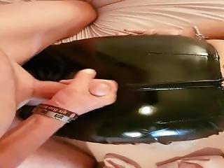 Jerking Off On Oiled  Pvc Shiney Black Leggings