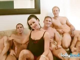 Lolly Badcock Blows 6 Big Cocks
