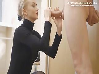 Blonde Schweizer Mutter Oral Sex