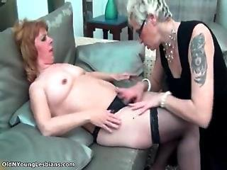 Horny Lesbian With Glasses Is Sucking