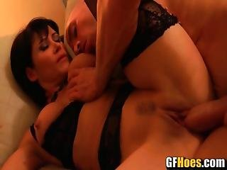 Amazing Titty Fuck From Hot Brunette Hoe