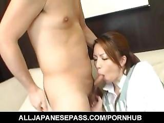 Tomoe Hinatsu Sucks Hard Dick