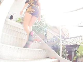 Gil (unknown) Pantyhosed Upskirt On Stairs