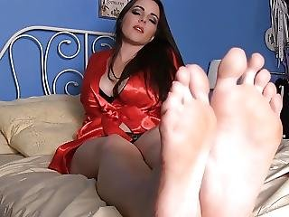 Gorgeous Feet And Red Toes Joi