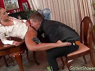 Goldenshowered Slut Rides