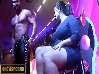 Bigdick Stripper And Pole Dancer On Stage