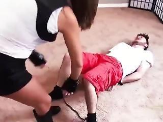 Sasha Foxx Kills Her Man (neck Break) Femdom Wrestling