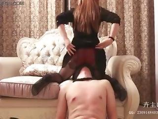 Chinese Femdom Facesitting W/ Pantyhose 4