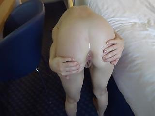 Wife Bent Over And Spreads Asshole For My Eager Tongue