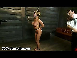 Chained Busty Babe Flogged And Shocked By Dentist