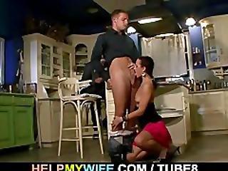 Hot Wife Sucks And Fucks Stranger