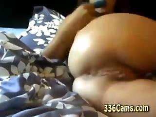 Cute Young Chick Playing On Webcam