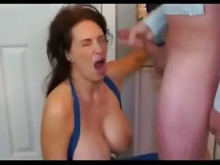 Evilsnakes- Sluty Mother Blackmail Forces To Suck Ex-boyfriend Dick In Kitchen - Xvideos.com 1