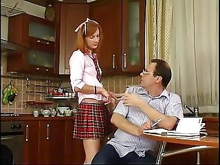 Stp1 Daddy Checks Her Schoolwork And She Gives Him A Fuck