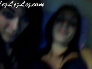Two Cute Teens Teasing, Fondling And Fingering On Webcam