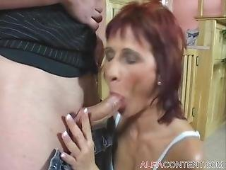 Horny Milf Gets Fucked Rough And Earns A Mouthful Of Cum