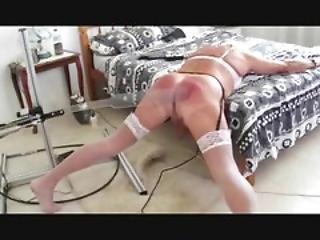 Sissy Slutbecky With Her Spanking Machine