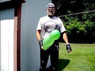 Leatherbiker Green Balloon