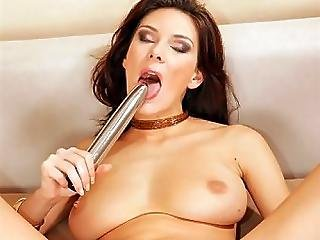 Anita Shows Off Her Toy