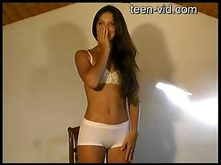 French Teen Striptease