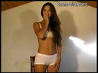 French Teen Striptease
