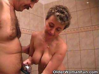 Blowjob, Busty, Dick, Grandma, Grandpa, Granny, Mature, Milf, Mom, Mother, Sex, Shower, Tiny