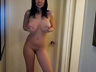 Hot Body Brunette Milf Lady Sexy Striptease To Nude