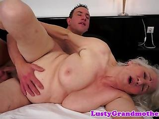 Chubby Grandma With Bigtits Fucked From Behind After Bj