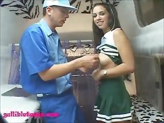 Icecream Truck Cute Eightteen Year Old Cheerleader Gets Long White Dick Fuc
