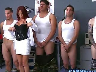 Militar Cfnm Ladies Teaching Discipline