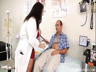 Busty Bbw Doctor Lisa Canon Feels Up Huge Cock