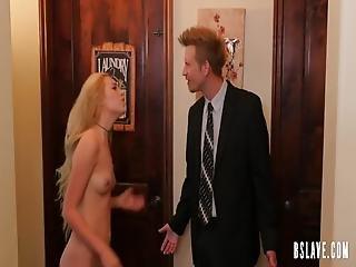 Pretty Blonde Lady Enjoys Hardcore Anal Sex