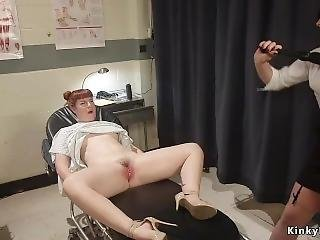 Doctor Toys With Bound Redhead