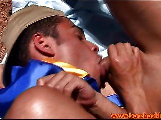 Gay Latino Hickers Take A Break To Fuck