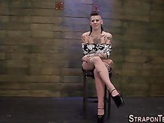 Busty Slave Strapon Screw