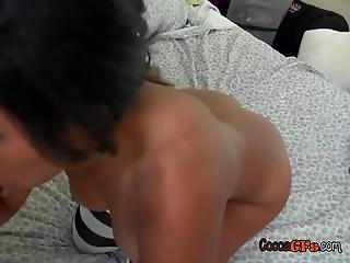 Black Student Gets Nasty With Big Black Cock When Home Alone