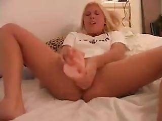 Violet With Huge Dildo