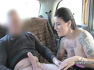 Brunette Milf In Fishnets Fucked In Taxi