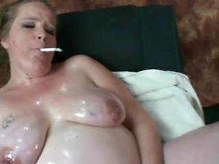 Oiled Up Pregnant Mother