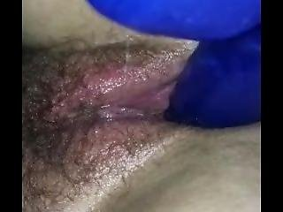 Fucking Wife With Big Blue Dildo