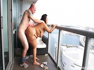 Lusty Latina Sofia Rose Fucks On Miami Balcony