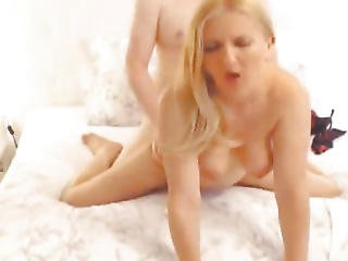 Blond Hottie Receives Group-fucked By Her Bf In A Celebrated Position