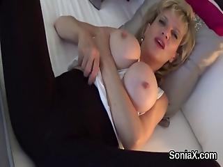 Unfaithful British Milf Lady Sonia Shows Her Giant Puppies