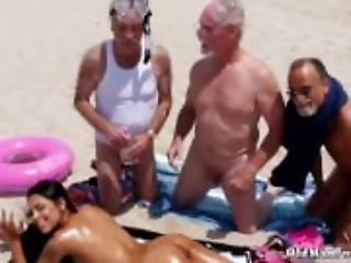 Old man young girl gang bang rough nurse