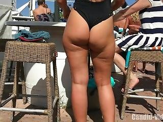 Amazing Candid Beauties Having Fun In The Pool Bar, Hot Girls Sexy Bikinis!